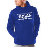 Under Armour Royal Armour Fleece Hoodie-USA Para Powerlifting