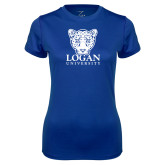 Ladies Syntrel Performance Royal Tee-Primary with Mascot