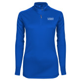 Ladies Syntrel Interlock Royal 1/4 Zip-Primary Stacked