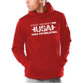 Under Armour Red Armour Fleece Hoodie-USA Para Powerlifting