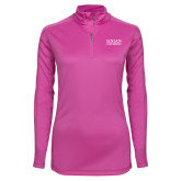 Ladies Syntrel Interlock Raspberry 1/4 Zip-Primary Stacked