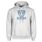 White Fleece Hoodie-Primary with Mascot