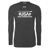 Under Armour Carbon Heather Long Sleeve Tech Tee-USA Para Powerlifting