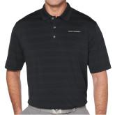 Callaway Horizontal Textured Black Polo-Primary Logo