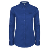 Ladies Royal Twill Button Down Long Sleeve-Primary Stacked
