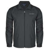 Full Zip Charcoal Wind Jacket-Primary Logo