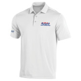 Under Armour White Performance Polo-USA Para Powerlifting