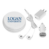3 in 1 White Audio Travel Kit-Primary Stacked