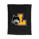 Black Rally Towel-L Mark
