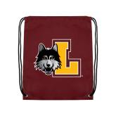 Maroon Drawstring Backpack-L Mark