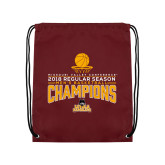 Maroon Drawstring Backpack-2018 Regular Season Mens Basketball