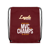 Maroon Drawstring Backpack-2018 MVC Champs Mens Basketball