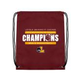 Maroon Drawstring Backpack-2019 Mens Regular Season Champions