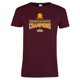 Ladies Maroon T Shirt-2018 Regular Season Mens Basketball