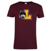 Ladies Maroon T Shirt-L Mark