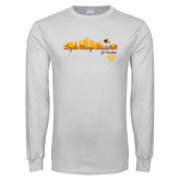 White Long Sleeve T Shirt-City Scape