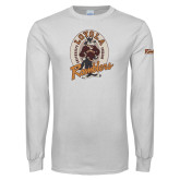White Long Sleeve T Shirt-Ramblers Vintage - Full Mascot