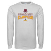 White Long Sleeve T Shirt-2018 Regular Season Mens Basketball