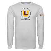 White Long Sleeve T Shirt-Retro Ramblers Collections