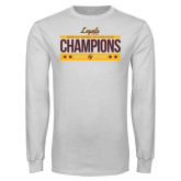 White Long Sleeve T Shirt-Underdog Champs