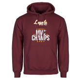 Maroon Fleece Hoodie-2018 MVC Champs Mens Basketball