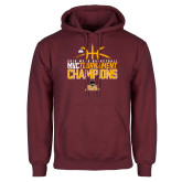 Maroon Fleece Hoodie-2018 Mens Basketball Champions - Stacked