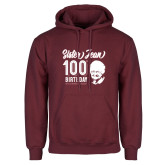 Maroon Fleece Hoodie-Sister Jean 100th Birthday