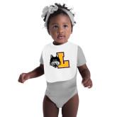 White Baby Bib-L Mark