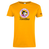 Ladies Gold T Shirt-Ramblers Vintage
