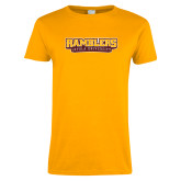 Ladies Gold T Shirt-Ramblers Loyola University