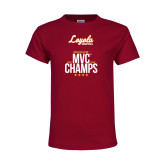 Youth Maroon T Shirt-2018 MVC Champs Mens Basketball