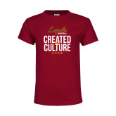 Youth Maroon T Shirt-Created by Culture