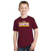 Youth Maroon T Shirt-Underdog Champs