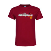 Youth Maroon T Shirt-City Scape