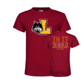 Youth Maroon T Shirt-L Mark