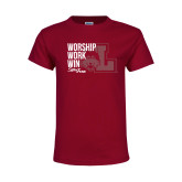 Youth Maroon T Shirt-Sister Jean Worship Work Win