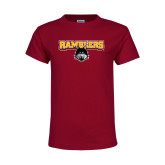 Youth Maroon T Shirt-Ramblers w/ Mascot