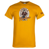 Gold T Shirt-Ramblers Vintage - Full Mascot