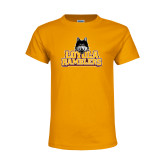 Youth Gold T Shirt-Loyola Ramblers Stacked