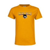 Youth Gold T Shirt-Ramblers w/ Mascot