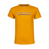 Youth Gold T Shirt-Ramblers