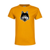 Youth Gold T Shirt-Mascot