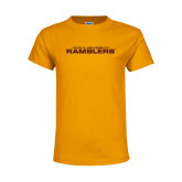 Youth Gold T Shirt-Loyola University Ramblers Stacked