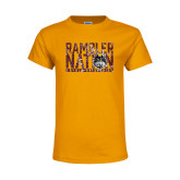 Youth Gold T Shirt-Rambler Nation