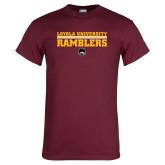 Maroon T Shirt-Loyola University Ramblers - LInes