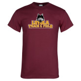 Maroon T Shirt-Track and Field