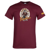 Maroon T Shirt-Ramblers Vintage - Full Mascot