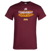 Maroon T Shirt-2018 Mens Basketball Champions - Brush