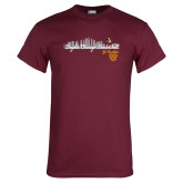 Maroon T Shirt-City Scape