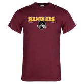 Maroon T Shirt-Ramblers w/ Mascot